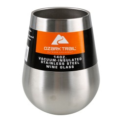 OZARK TRAIL® 14 OZ. VACUUM INSULATED STAINLESS STEEL WINE GLASS
