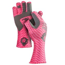 Fish Monkey® Half Finger Guide Glove Pink Scales